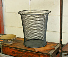 Vintage Antique Industrial Nemco Wire Mesh Trash Can Waste Paper Basket 1920's