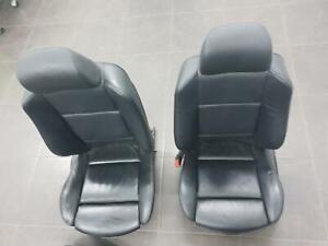BMW X5 E53, FRONT & REAR SEATS LEATHER, BLACK, 11/00-12/06
