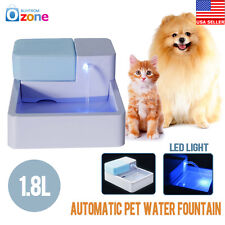 LED Automatic Pet Water Drinking Filter Fountain Bowl Dogs Cats Drinker Newes