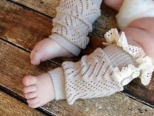 Girls Kid Baby Frilly lace leg Warm Socks footless Cover loose Tights Stockings
