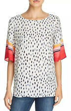 NIC + ZOE SHORT SLEEVE TUNIC BLOUSE TOP SIZE XS NWT
