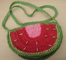 Cute Small Watermelon Lolita/ Summer/ Beach/ Festival Straw Woven Shoulder Bag