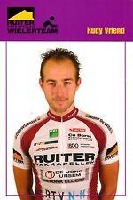 CYCLISME carte cycliste RUDY VRIEND équipe RUITER WIELERTEAM