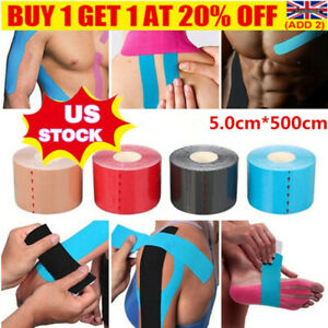 5Roll Kinesiology Tape Sports Physio Knee Shoulder Body Muscle Support ProtectYE