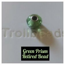 TROLLBEADS RETIRED GREEN PRISM BEAD