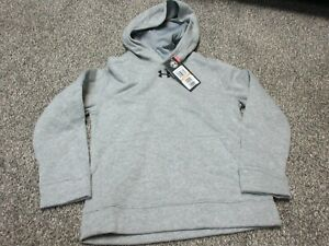 Under Armour Hustle Fleece Team Hoodie Youth Small S 1300129 - Grey NWT!