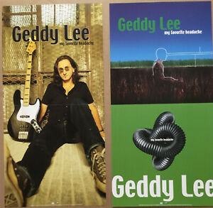 Rush GEDDY LEE Rare 2000 DOUBLE SIDED PROMO POSTER FLAT for My CD MINT USA 12x24
