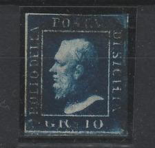 FRANCOBOLLI 1859 SICILIA 10 GR. INDACO Z/5980
