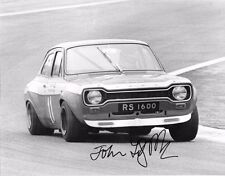 John Fitzpatrick SIGNED 10x8  Broadspeed Ford Escort RS1600 , Jarama 4hrs 1972