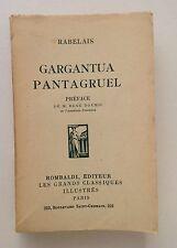 RABELAIS Gargantua Pantagruel (Collection Les Grandes Classiques Illustrés) 1930