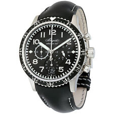 Breguet Transatlantique Type XXI Flyback Automatic Black Dial Black Leather