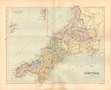 England Cornwall Antique Europe County Maps