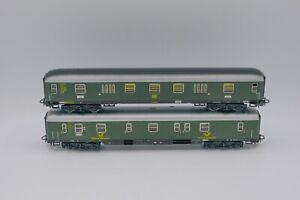 (2) Marklin #4026/ #4047 HO Scale DB Postal Car & Baggage Car, Boxed