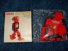 Rare Vintage TENTE ROBLOCK REDCOBRA 0775 Tranformer Robot Lego   Unused