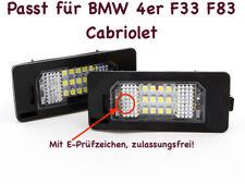 2x TOP LED SMD Kennzeichenbeleuchtung Für BMW 4er F33 F83 Cabriolet (XC)