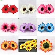 """5/100X 3"""" Gerbera Sunflower Silk Artificial Flowers Head Wedding Party DIY Decor"""