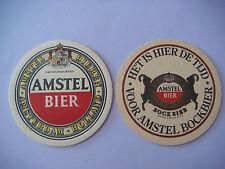Beer Bar Cerveza Coaster: AMSTEL Brewing Bockbier ~ Amsterdam, Holland Est. 1870