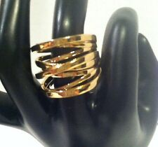 Michael Kors GOLD Tone Brilliance Large Interwoven RING MK2597 Size 7 Or 8 $95