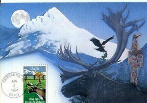 US FDC Fleetwood Maximum Card Scott #2066 Alaska Statehood. Free Shipping.
