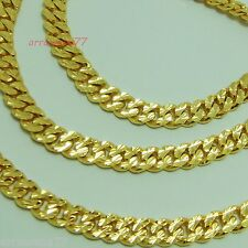Men's Deluxe 22K 23K 24K Thai Yellow Gold Plated Necklace 26 inch Jewelry 7 mm