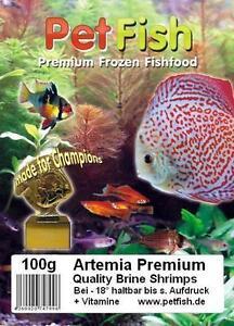 100 X 100g Artemia Premium Feuer Rot + Vitamine Frostfutter Diskusfutter
