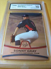 SONNY GRAY A'S COLLEGIATE NATIONL TEAM 2010 BOWMAN PLATINUM # PP37 RC GRADED 10