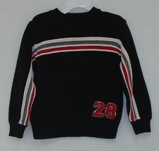 Boys Carter's Black Striped Crew Neck Sweater Size 3T in EUC