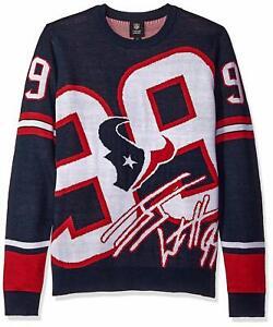 Forever Collectibles NFL Men's Houston Texans JJ Watt #99 Loud Player Sweater