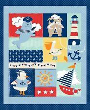 Fabric Nautical Ahoy Matey StudioE Panel 34