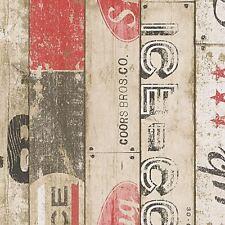 Surf Bois Panneau Papier Peint Rouleaux Rouge - As Creation 959501 Neuf