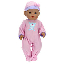 Cute Beer Pink Doll Clothes+Hat Wearfor 43cm Baby Born zapf (only sell clothes)