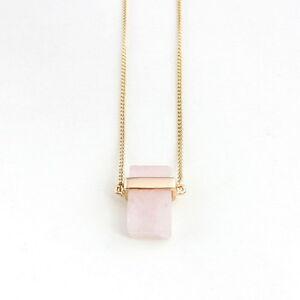 N3218 New Fashion Bar Pendant Necklace Strip Quartz Crystal Hot Selling Necklace