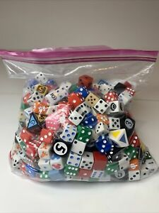 Big Bag Of Dice Lot D20 D6 Polyhedral New Vintage Gaming RPG D&D Crafting Mixed