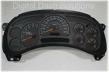 03-04 BUY A FULLY REBUILT SILVERADO DIGITAL DASH SOLUTIONS CLUSTER *$50 REBATE*
