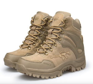 Men Ankle Military Boots Outdoor Hiking boots Non-slip rubber Army Boots Comfort