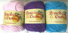 3 skeins Peaches n Cream And Suger n Cream Yarn: Worsted 4 ply 2.5oz each COTTON