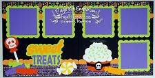 Scrapbook Page Kit Paper Piecing Halloween Sweet Treats Boy Girl PKEmporium 66