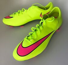 Size 12 NIKE Mercurial Veloce II FG Soccer Cleats  Volt Pink NEW 651618 760
