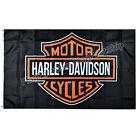 Harley Davidson Flag Banner 3x5 ft  LOGO Grommets FAST FREE SHIPPING US Seller