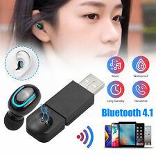 USB Mini Wireless Bluetooth Earbuds In-Ear Stereo Earphones Sport Headset 2019