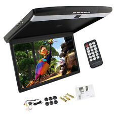 """17.3"""" LCD HDMI Car Ceiling Overhead Flip Down Roof Mount Monitor FM/SD/USB/1080P"""