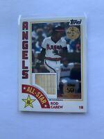 2019 Topps 1984 Baseball All-Stars Relics Rod Carew #ASR-RA HOF ANGELS /150