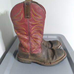 (Needs Restoration) Ariat Workhog Men's Size 9D Shoes Red/Brown Western Boots