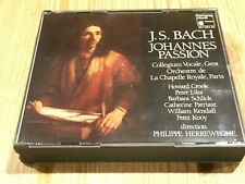 Signed by PHILIPPE HERREWEGHE Bach Johannes-Passion ORIG HARMONIA MUNDI 2 CD BOX