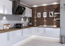 High Gloss Slab WHITE  Modern 7 Kitchen Cabinets Price Offer - NEW -