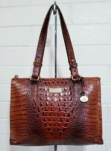 BRAHMIN ANYWHERE TOTE PECAN Melbourne GENUINE LEATHER SHOULDER BAG HANDBAG PURSE