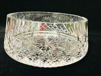 """Waterford Lismore Crystal Serving Bowl, 7"""" D (Top), 3 1/2"""" High, 8"""" D (Bottom)"""