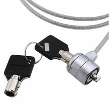 Computer Cable Lock Laptop or Notebook 6ft. Steel Cable 2 Keys Security Padlock