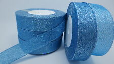 """NEW 5yards 1 """"25mm glitter ribbons Bling for DIY Wreaths decorated and Bows BB"""