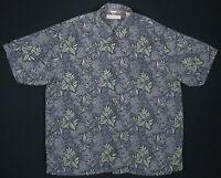NWOT Tommy Bahama Hawaiian Aloha Floral Loop Collar Mens Short Sleeve Silk Shirt